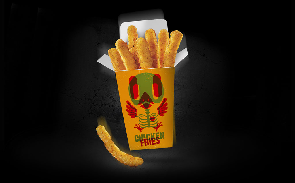 burger king halloween chicken electrifries