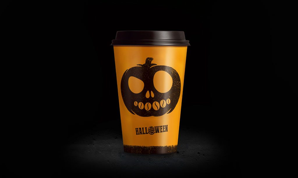 burger king halloween pumpkin latte